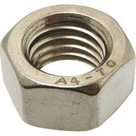 Écrou hexagonal inox A2/A4