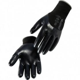Gant nitrile noir 3/4 enduit