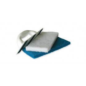 Platoir+tampons abrasifs