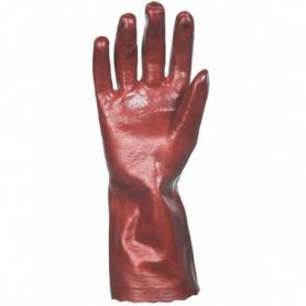 Gant pvc rouge lisse 35cms t9 1/2
