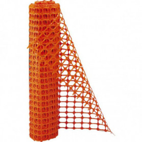 Barrière de chantier PVC Orange 1 m x 50 m
