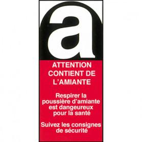 Étiquettes Amiante