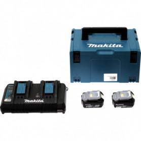 Pack 2 batteries 18 V 5,0 Ah en Makpac