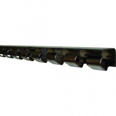 Profilé inox pour lanière PVC